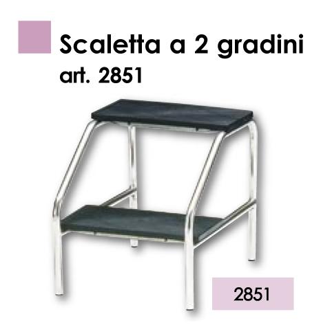ad27d7a892 2851, scaletta a 2 gradini con struttura in tubo tondo di alluminio di  diam. mm 22 x 1,5 di spessore, con pedane in plastica stampata  antisdrucciolo di ...